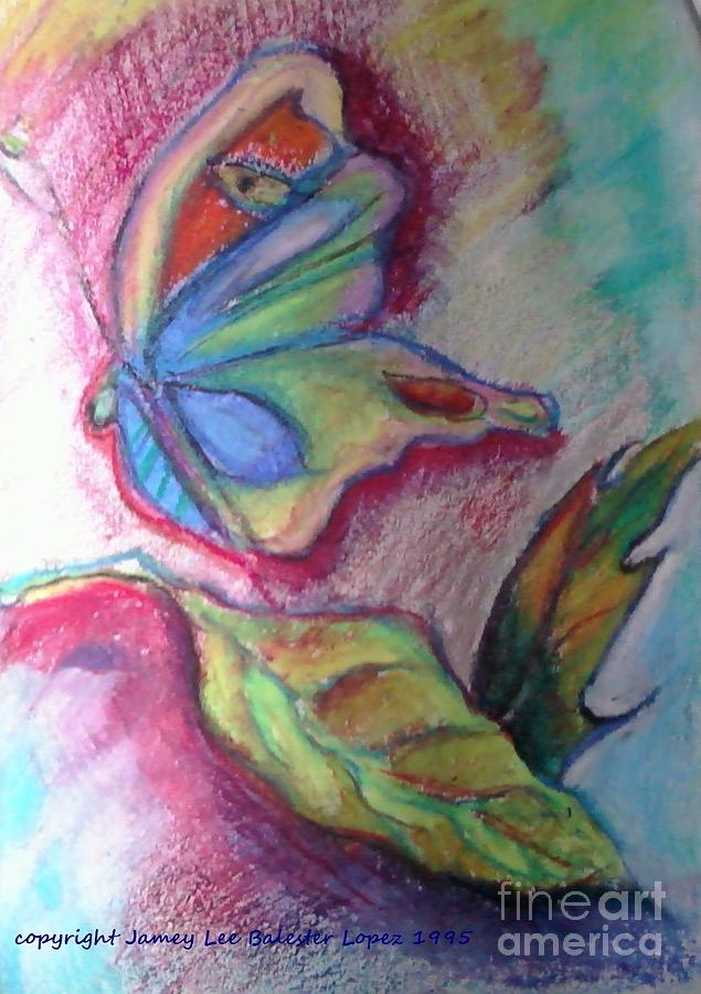 Colorful Butterflies Pastel - Butterfly Beauty by Jamey Balester