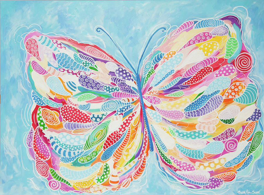 Butterfly Painting - Butterfly by Beth Ann Scott