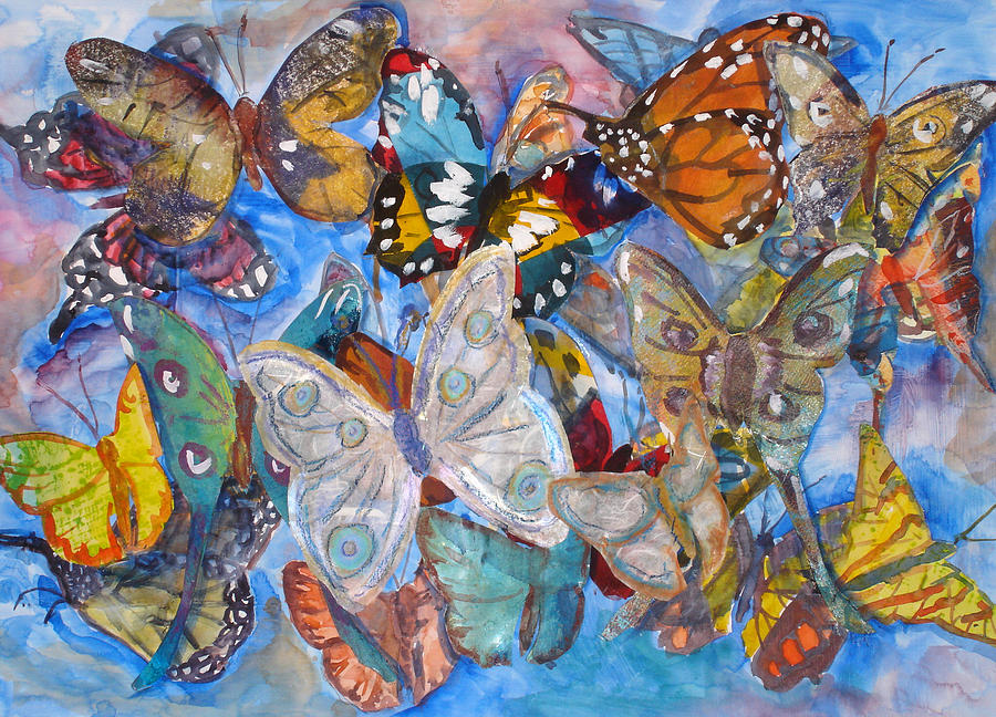 Butterfly Mixed Media - Butterfly Collage by Joyce Kanyuk