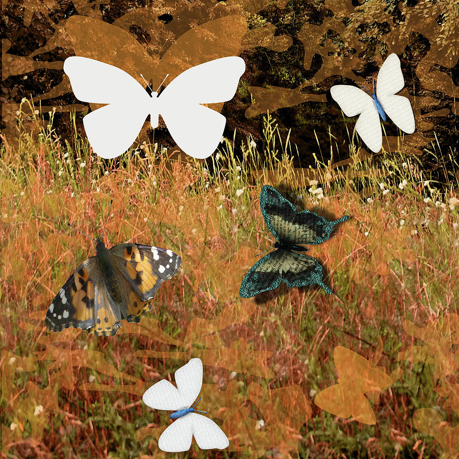 Butterfly Collage by Rebecca Mento