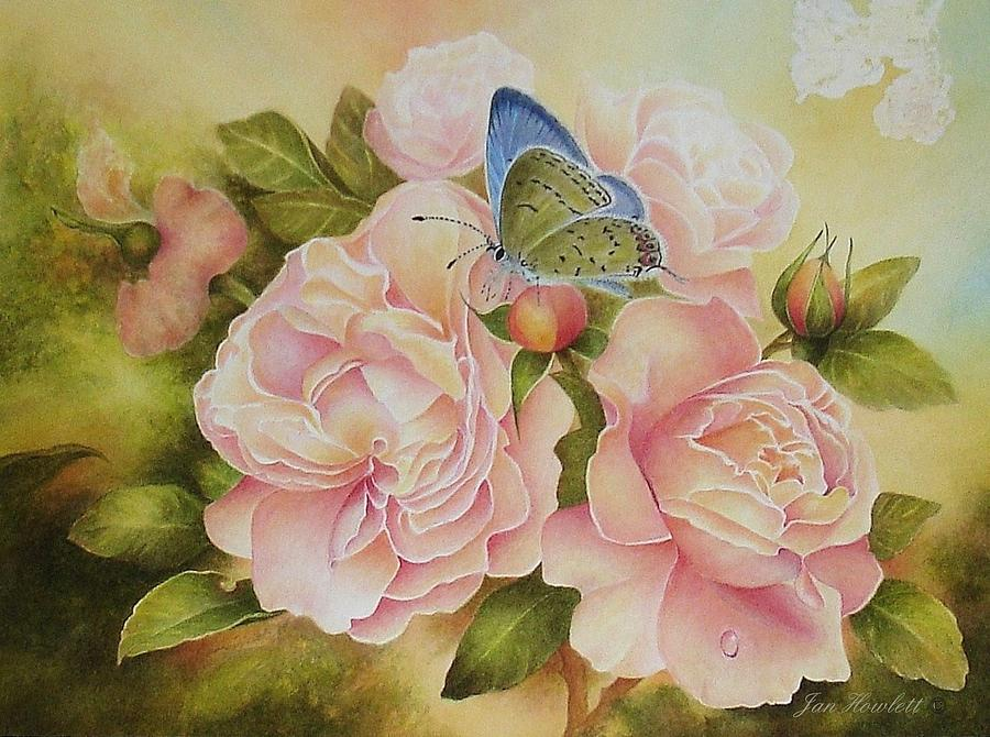 Florals Painting - Butterfly Days Of Summer by Jan Howlett