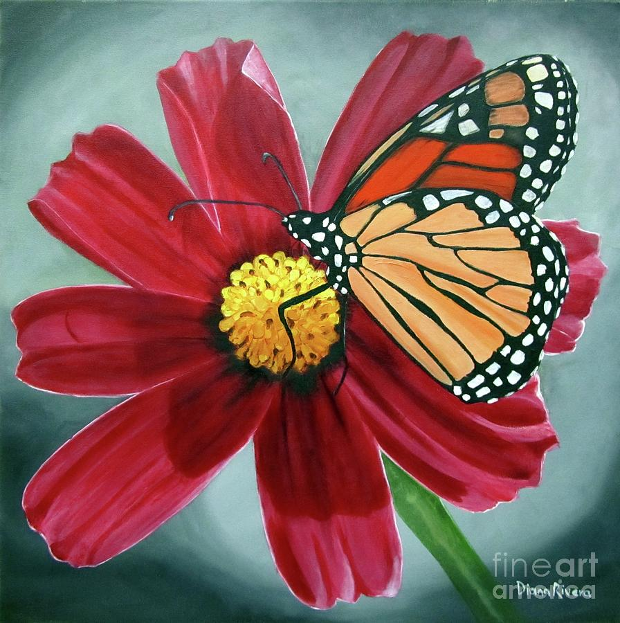 Monarch Butterfly Painting - Butterfly by Diana Rivera