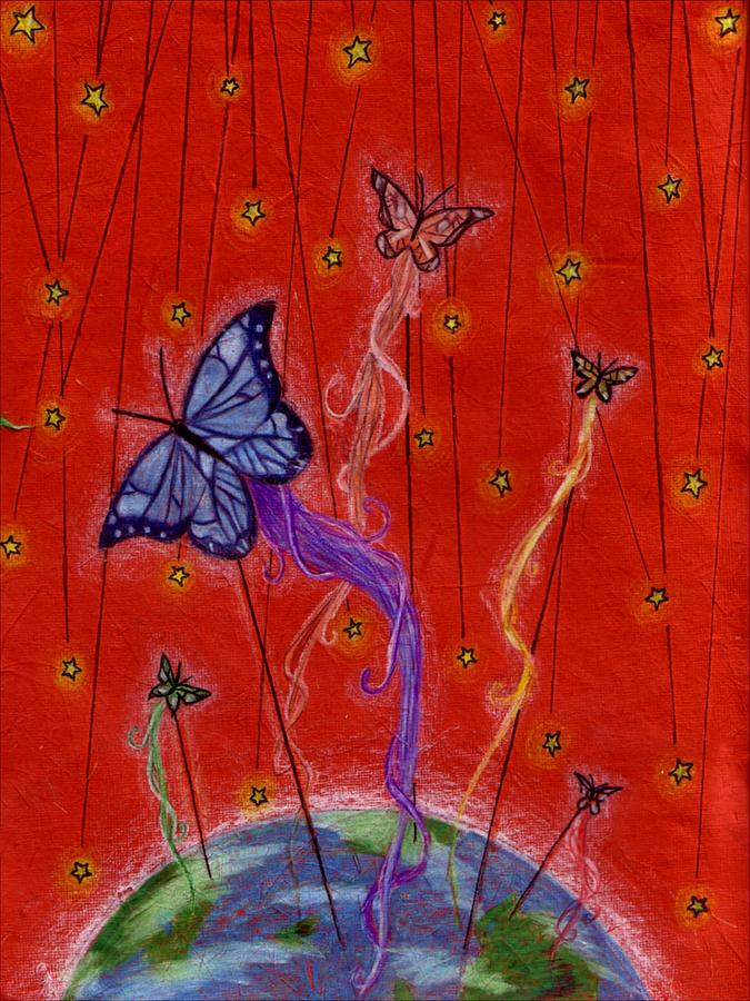 Butterfly Dreams Drawing by Riina Adamson