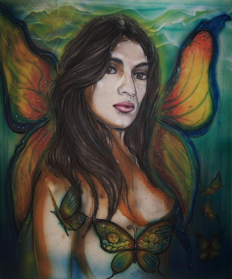 Fairy Mixed Media - Butterfly Fairy by Americo Salazar