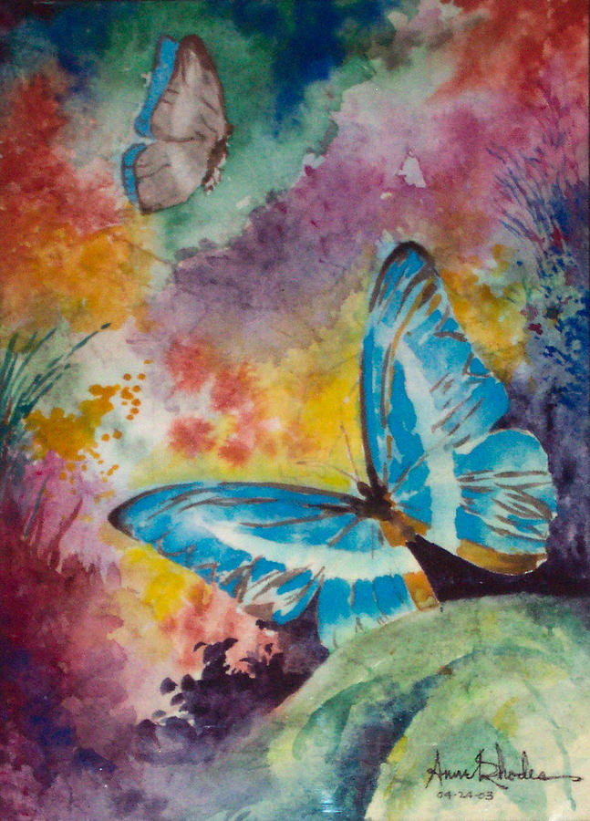 Butterfly Fantasy Number Two Painting By Anne Rhodes