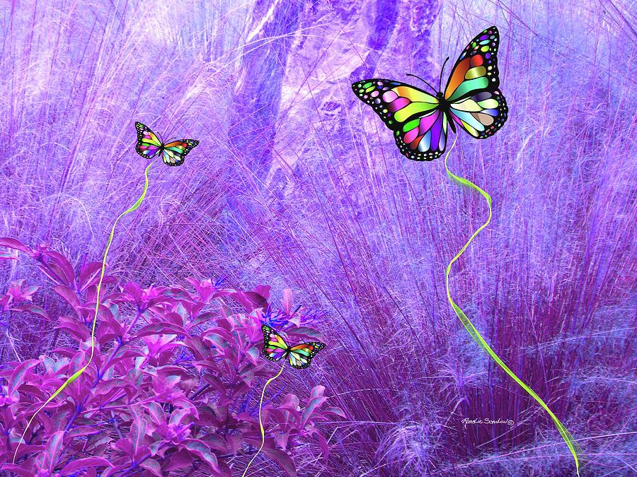 Butterflies Mixed Media - Butterfly Fantasy by Rosalie Scanlon