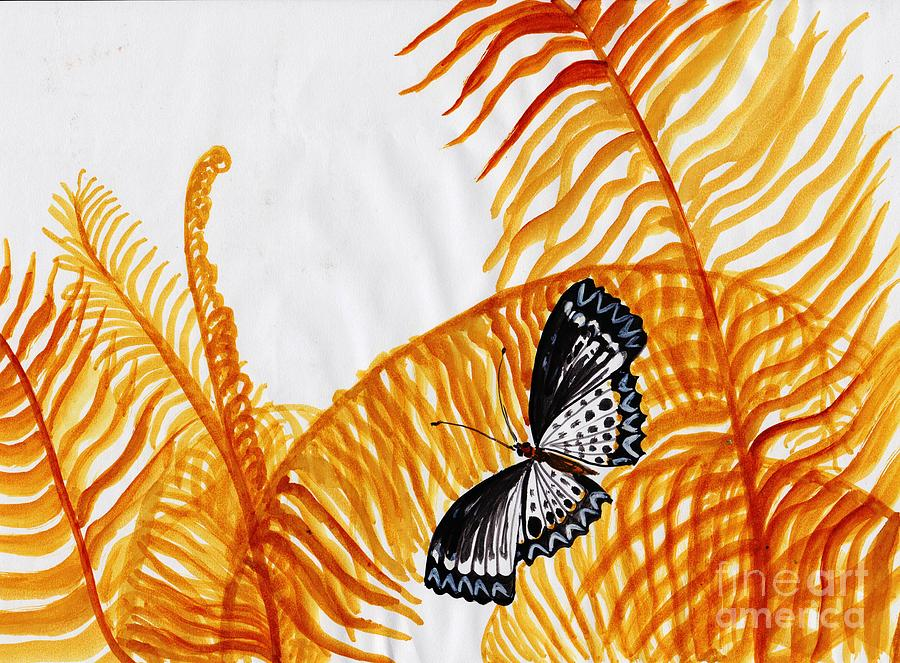 Butterfly Painting - Butterfly Fern by Sweeping Girl