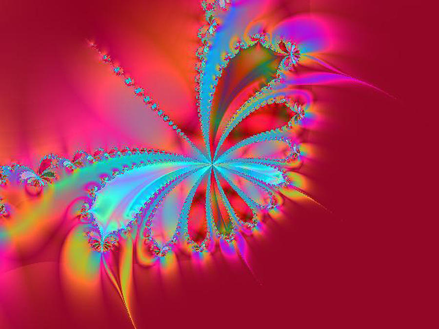 Butterfly Digital Art - Butterfly Flame by Glorie Tortoso