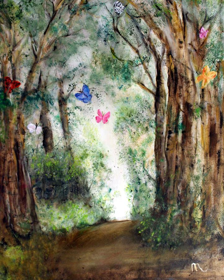 Landscape Painting - Butterfly Forest by Michela Akers
