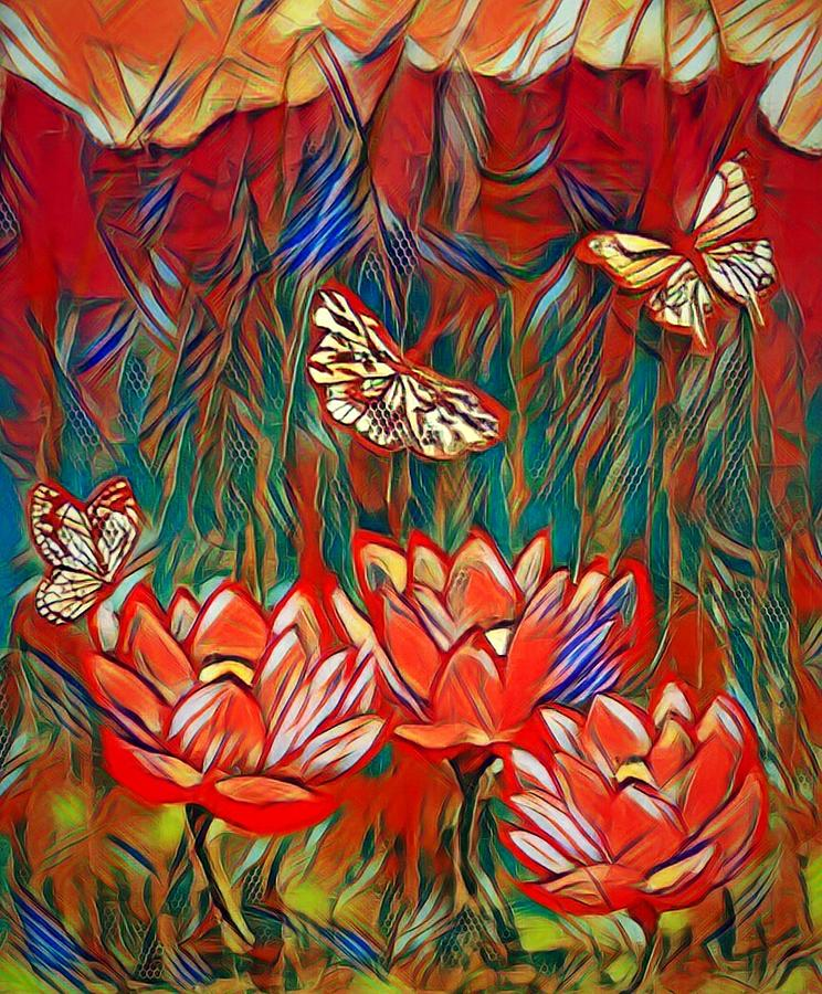 Butterfly garden by Kim Raine Johnson