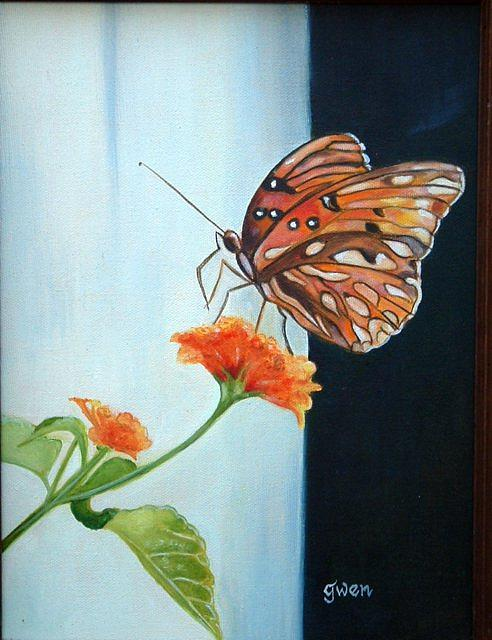 Butterfly Painting - Butterfly by Gwendolyn Frazier
