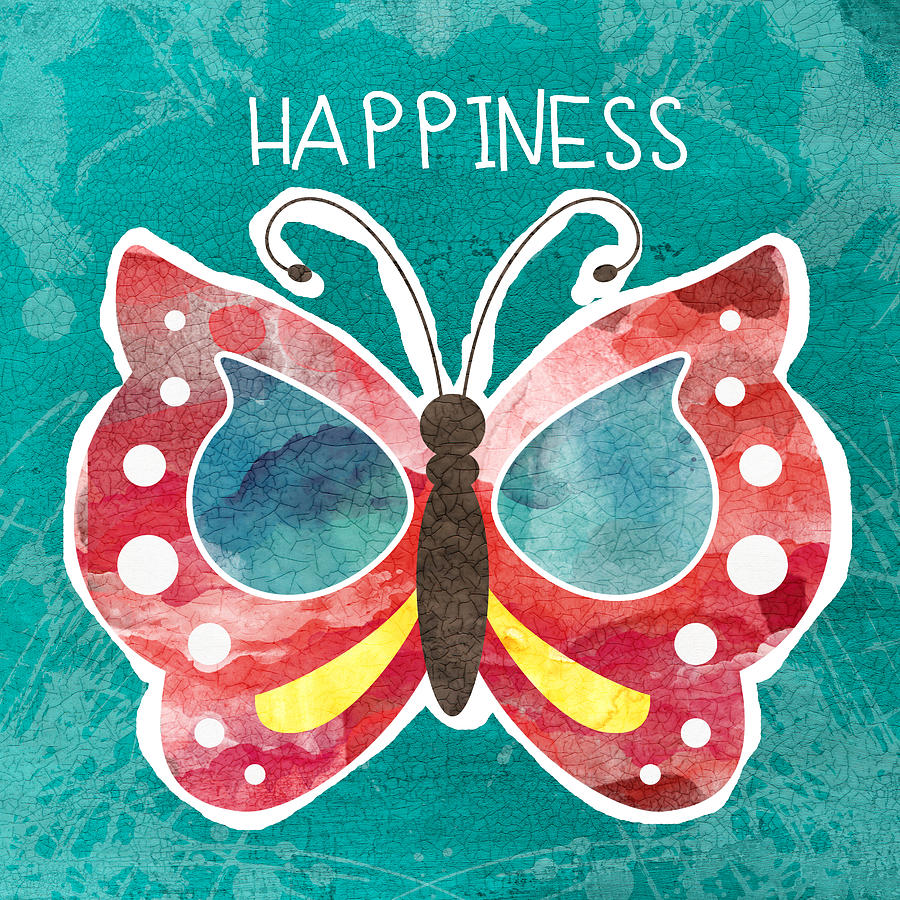 Butterfly Happiness Painting