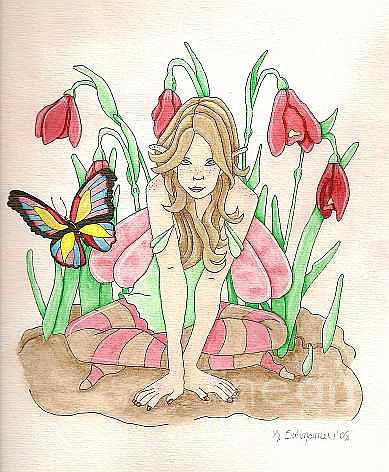 Fairy Painting - Butterfly by Kerry Swinamer