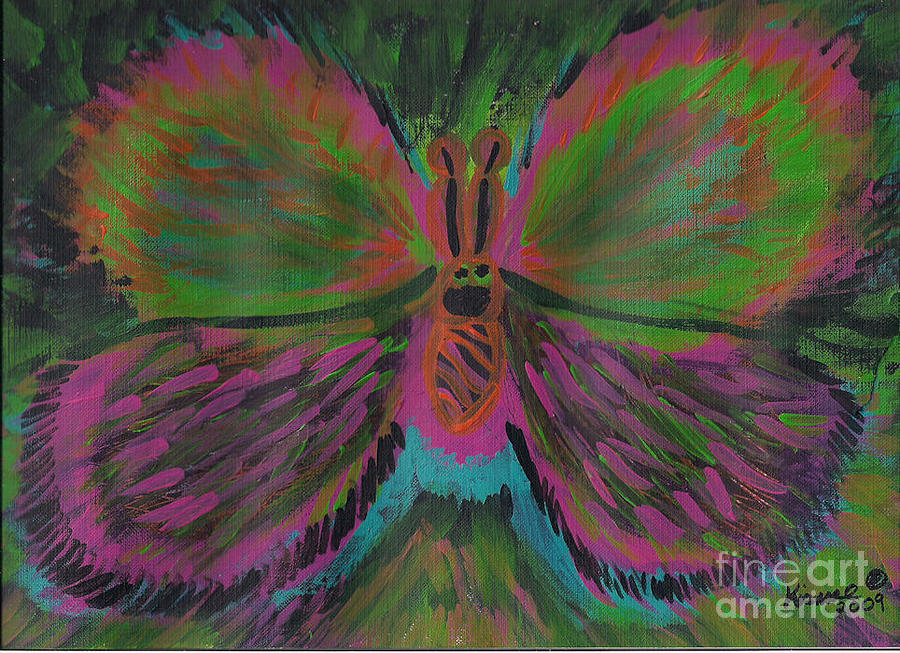 Butterfly Painting - Butterfly by Kismae Grimes