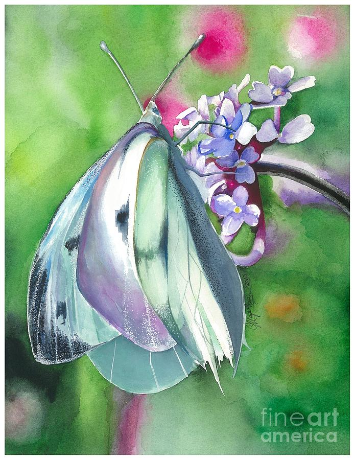 Butterfly Painting - Butterfly Kisses by Maya Marcotte