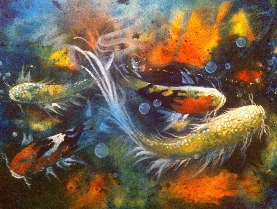 Butterfly Koi Dance by Gloria Avner
