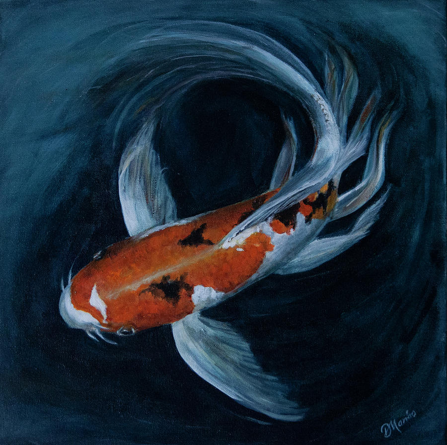 Butterfly Koi Painting By Diana Marino