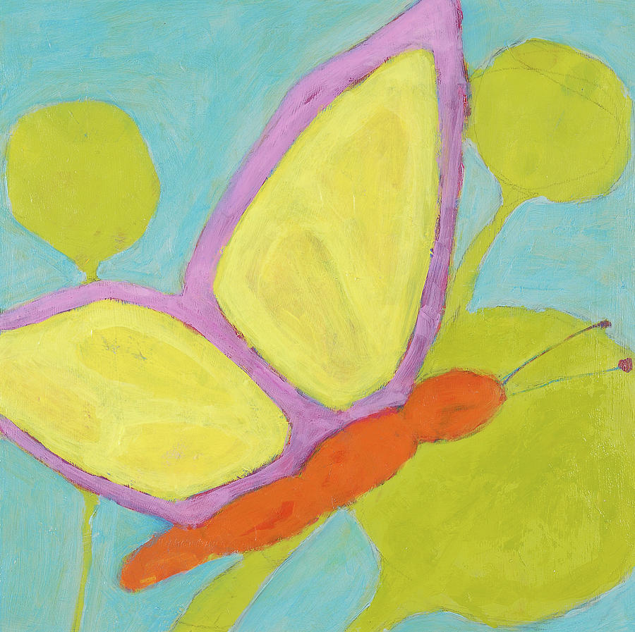 Kids Room Painting - Butterfly by Laurie Breen
