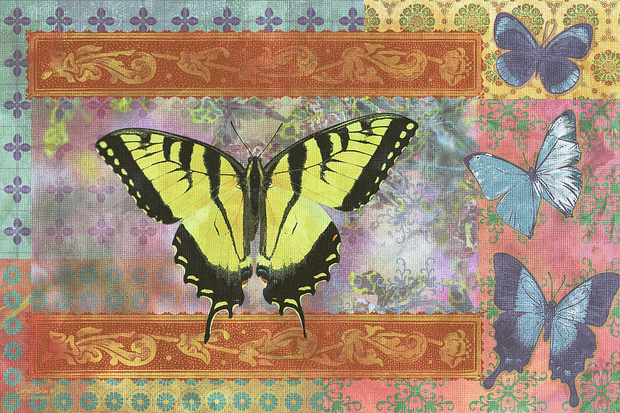 Butterfly Painting - Butterfly Mosaic by JQ Licensing