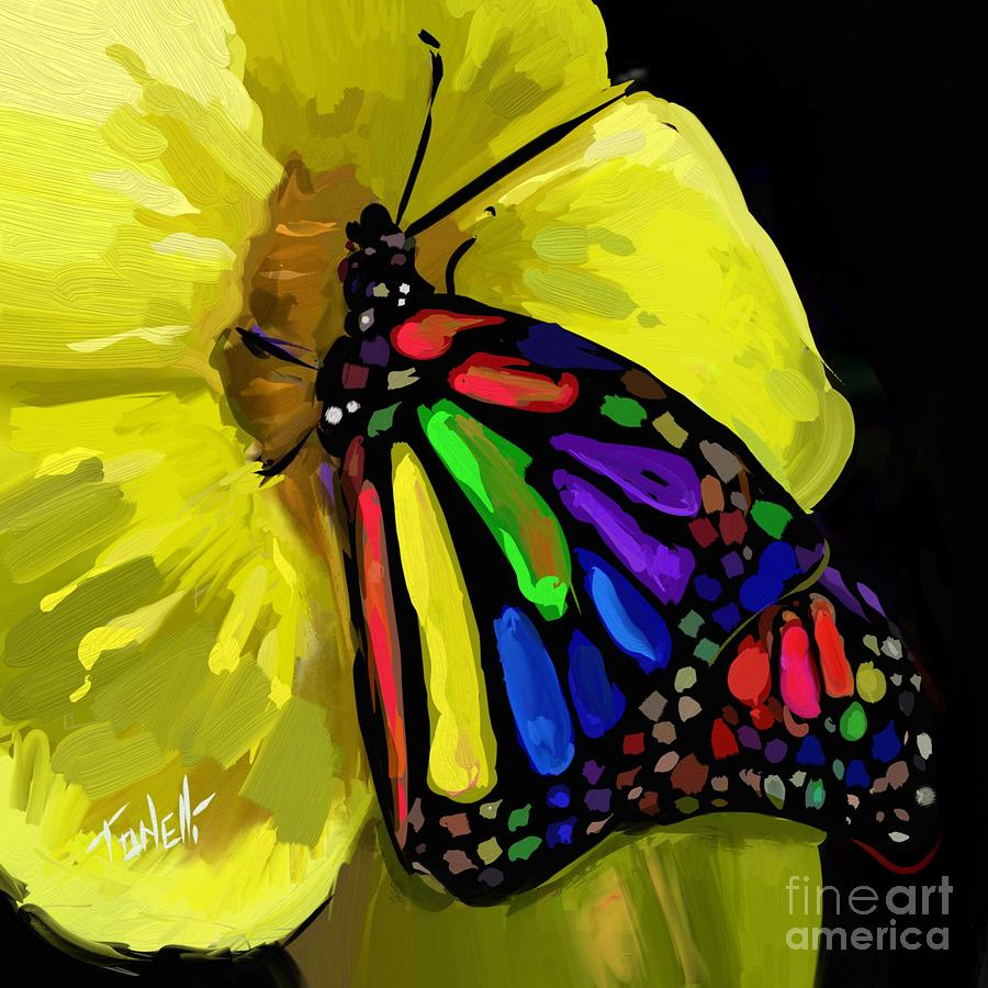 Butterfly Painted Lady Mixed Media