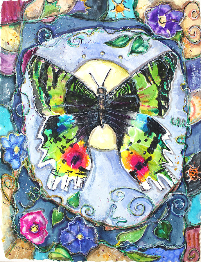 Mixed Media Painting - Butterfly by Patricia Allingham Carlson