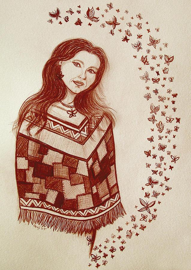 Butterflies Drawing - Butterfly Princess by Nick Gustafson