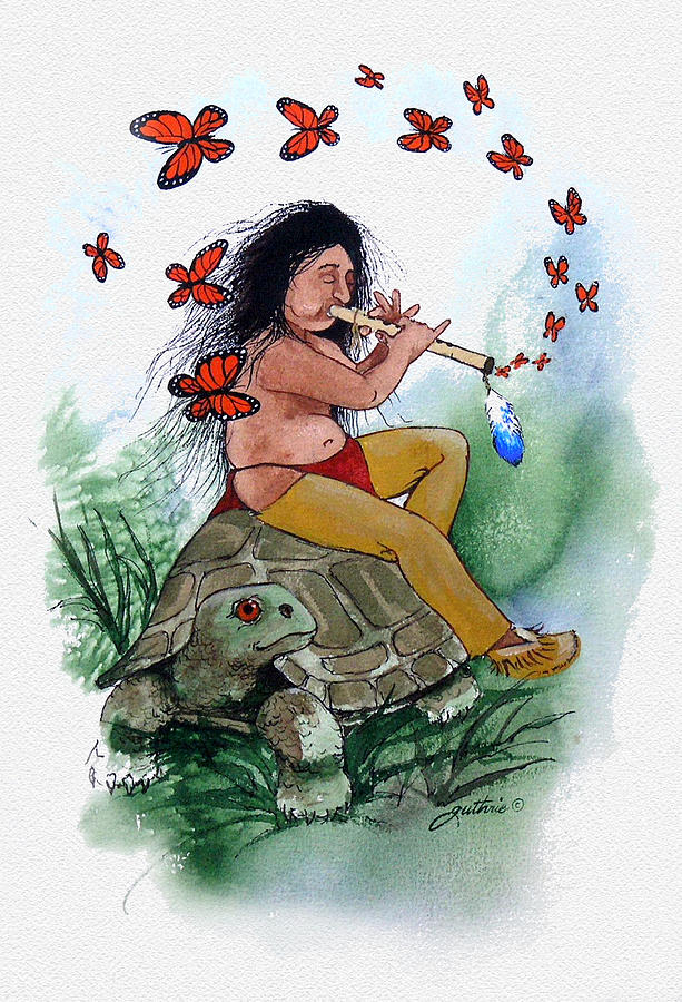 Butterfly Painting - Butterfly Song by John Guthrie