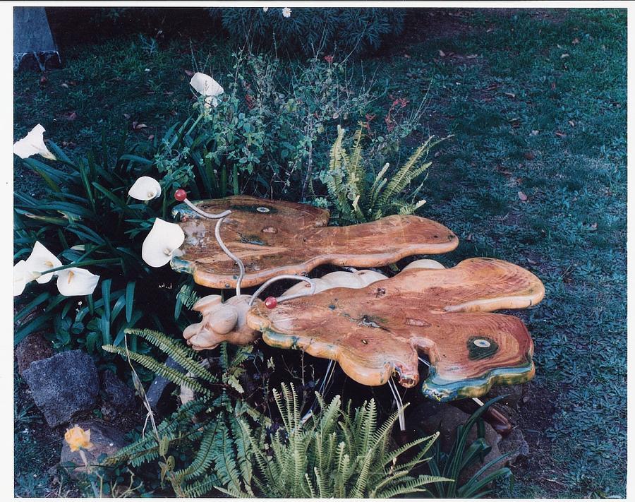 Yellow Box Sculpture - Butterfly Table by Lionel Larkin