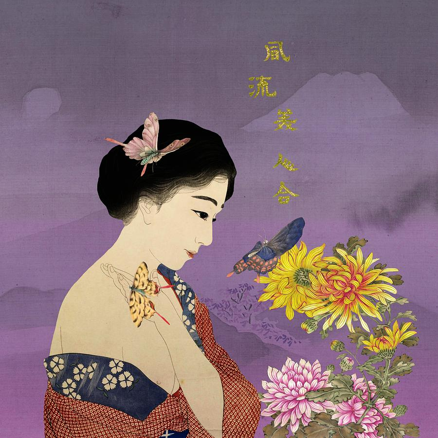 Butterfly Painting - Butterfly Whisperer by Laura Botsford