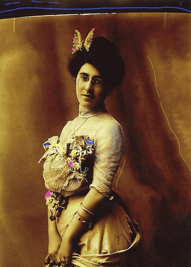 Butterfly woman Henry Buehman photo Tucson Arizona c. 1900 color added 2008 by David Lee Guss