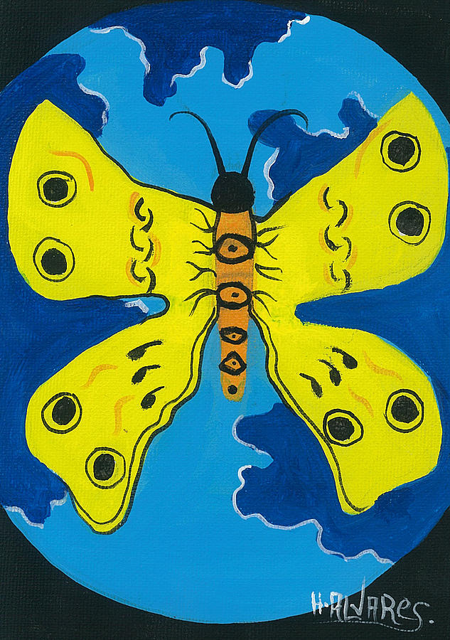 Butterfly Painting - Butterfly World by Herold Alvares