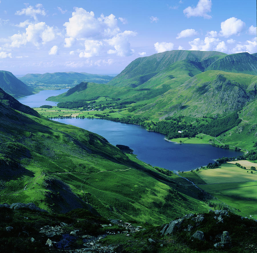 Buttermere and Crummock Water from Haystacks, Cumbria. UK by Maggie McCall