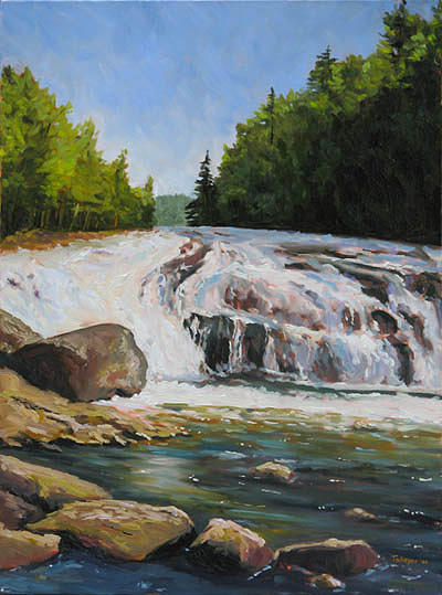 Waterfall Painting - Buttermilk Falls by Takeyce Walter