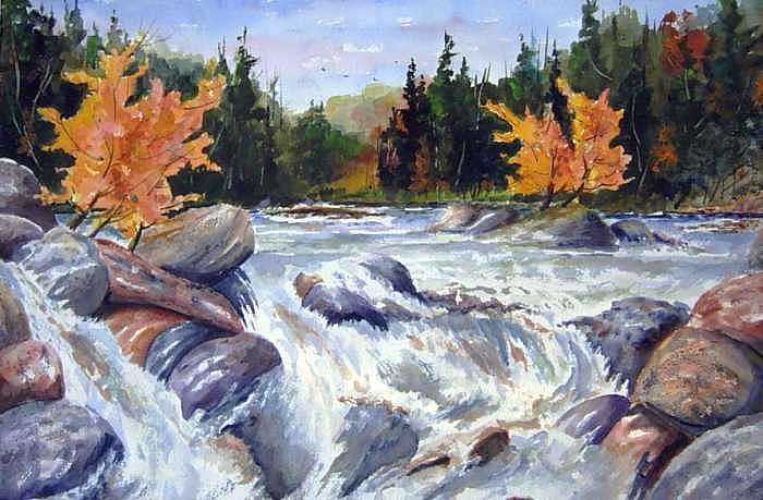 Buttermilk Falls Painting by Wilfred McOstrich