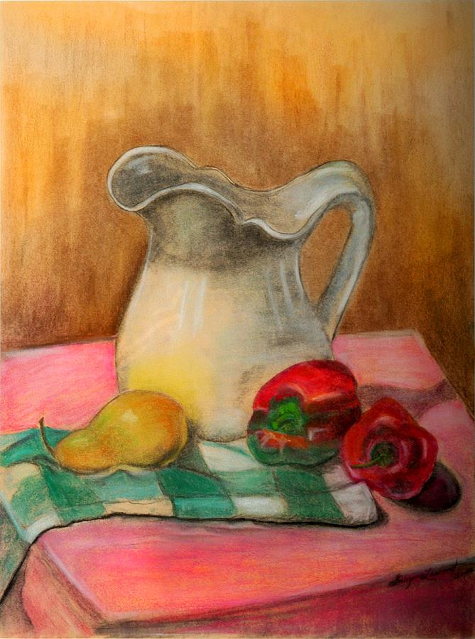 Buttermilk Pitcher Painting by Shirley Lawing