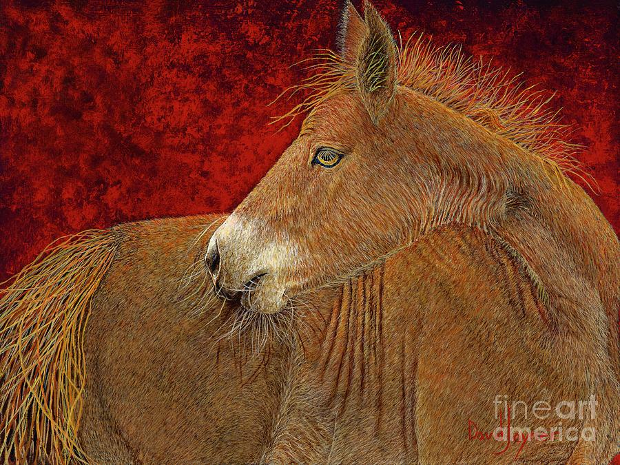 Horse Painting - Butterscotch by David Joyner