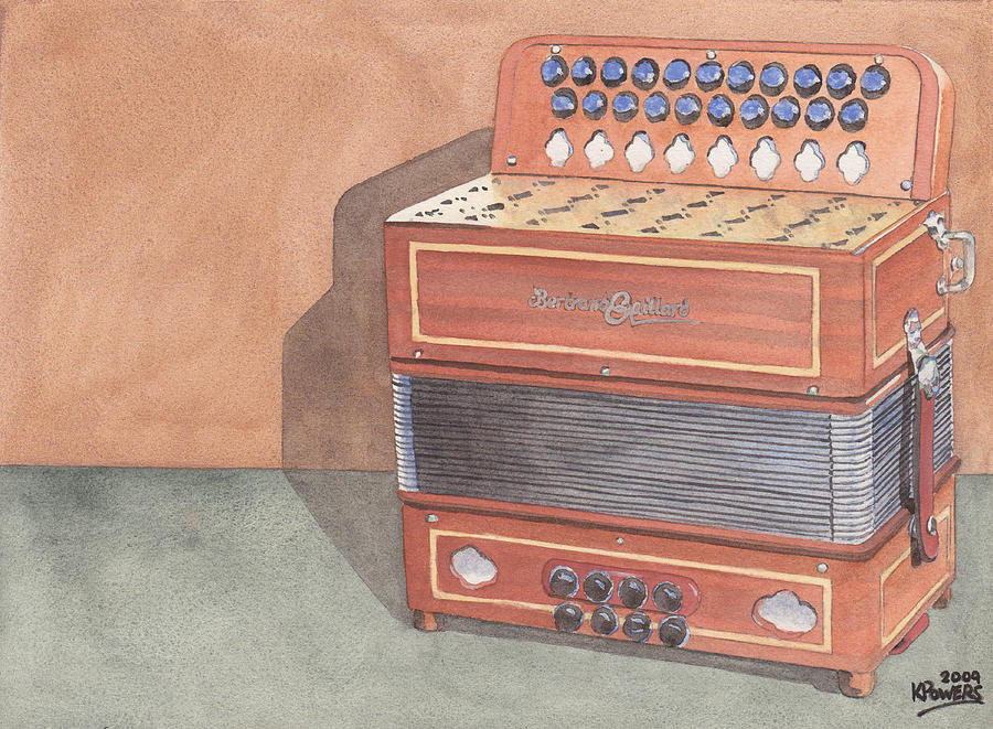 Button Painting - Button Accordion Three by Ken Powers