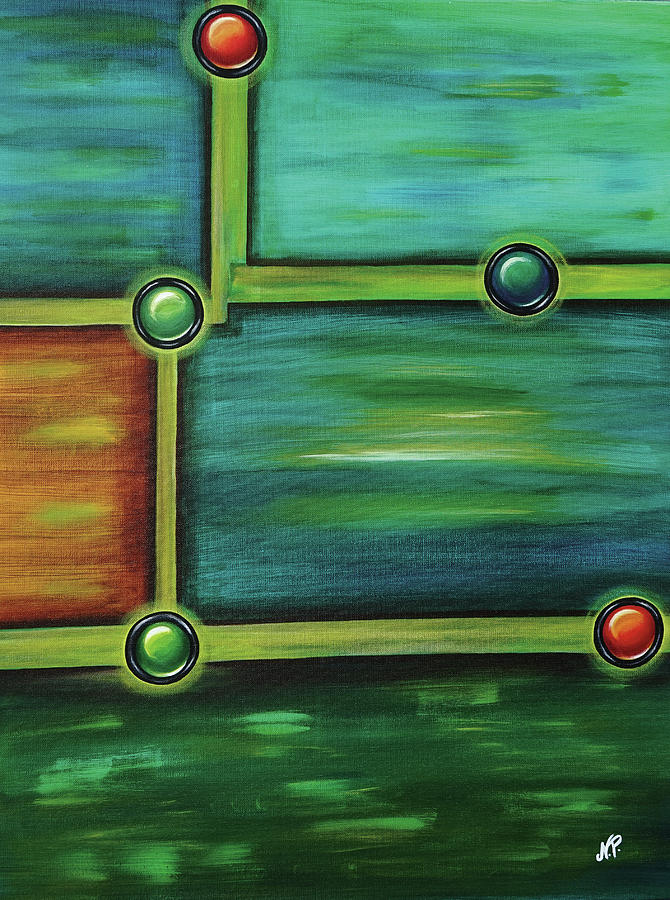 Abstract Painting - Buttons by Nicole Paquette