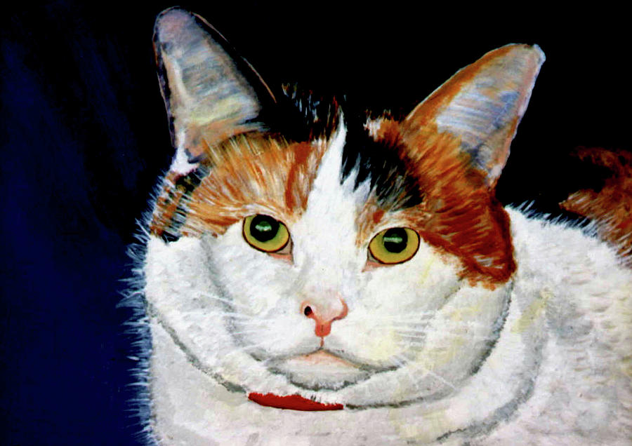 Cat Painting - Buttons by Stan Hamilton