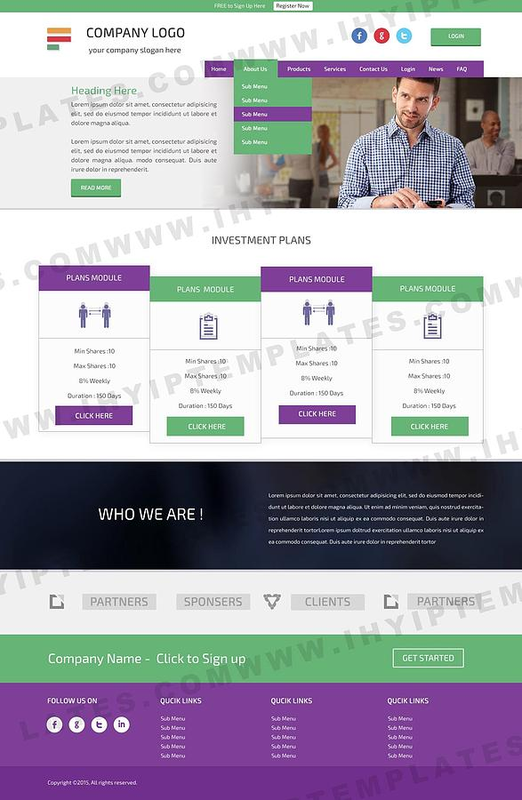 buy hyip template  Buy Hyip Template Digital Art by IHYIP Templates