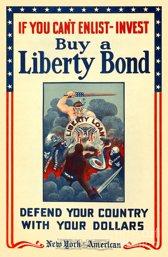 Liberty Bonds Photograph - Buy Liberty Bonds by Jon Neidert