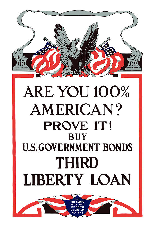 Liberty Loan Painting - Buy U.s. Government Bonds by War Is Hell Store