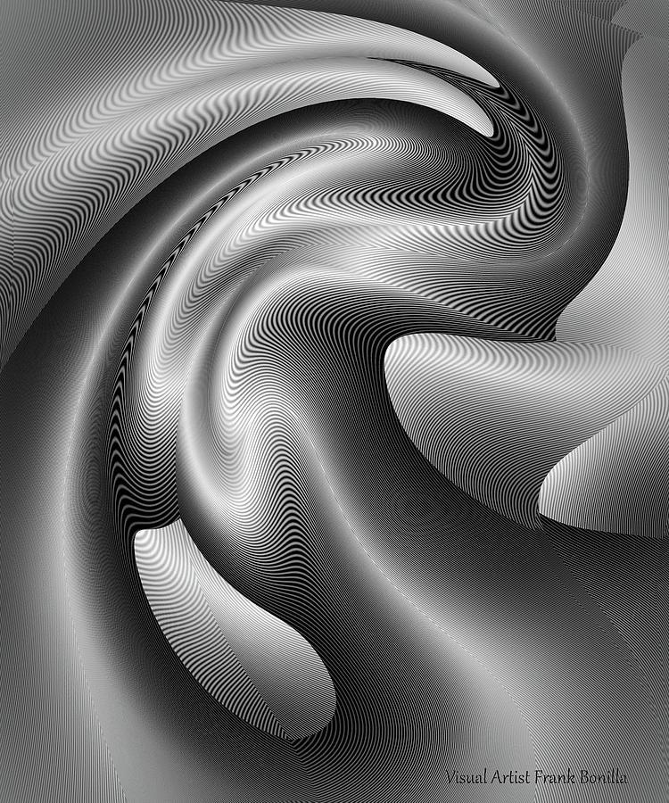 B&w Digital Art - Bw Art 3 by Visual Artist Frank Bonilla