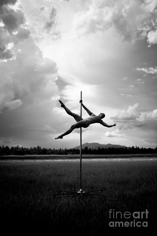 Bw Pole Dancing In A Storm Photograph
