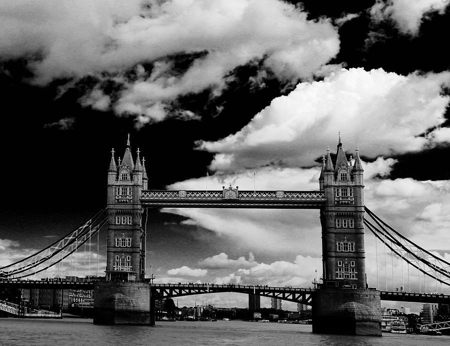 Tower Bridge Photograph - Bw Series Tower Bridge by Caroline Reyes-Loughrey