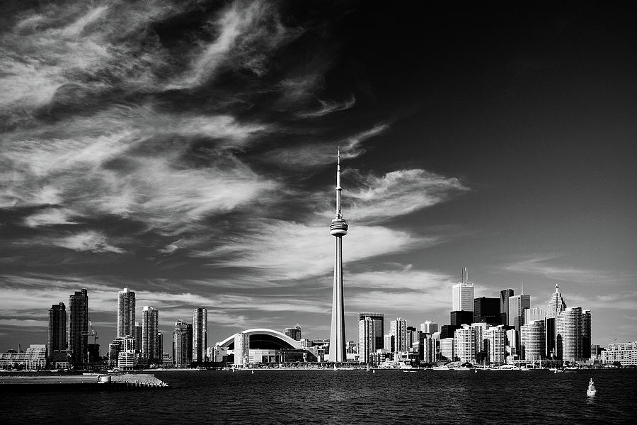 Architecture photograph bw toronto skyline 1 5 ratio xl by andriy zolotoiy