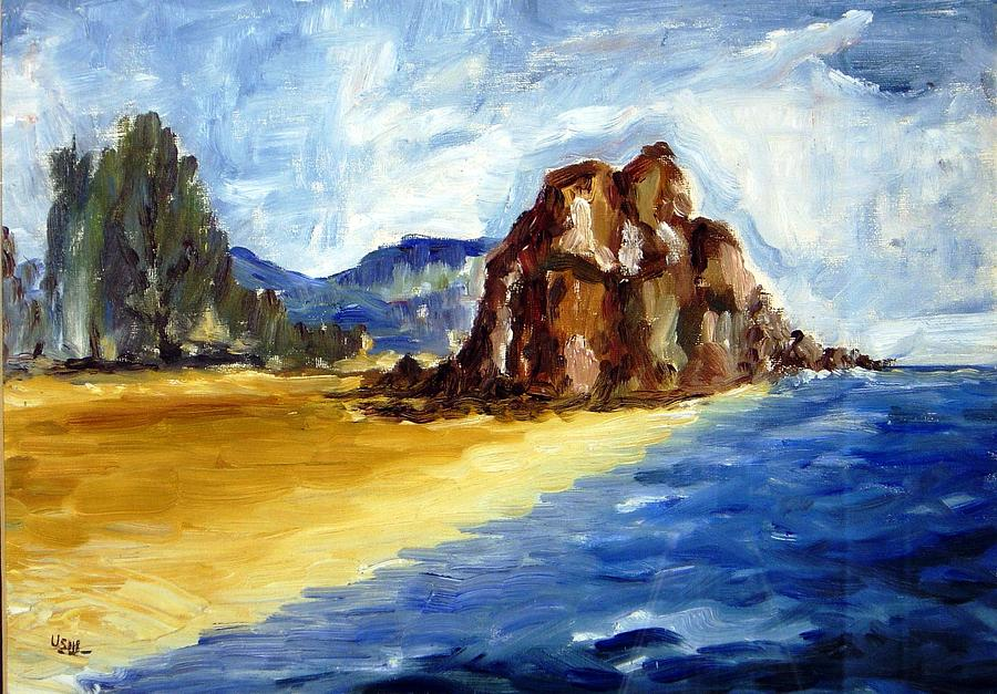 Landscape Painting - Bwiru Beach Mwanza Tanzania by Ujjagar Singh Wassan