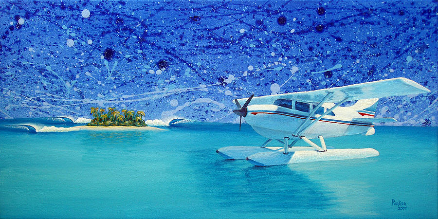 Seascape Painting - By Air by Patrick Parker