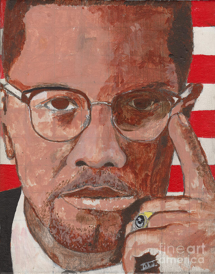 Malcolm X Painting - By Any Means... by David Jackson
