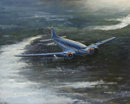 Aviation Painting - By Dawn by Andrew Tucker